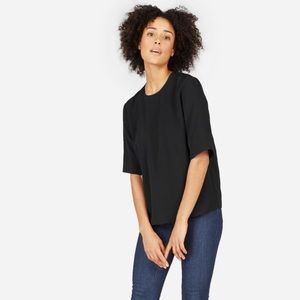 Everlane Japanese GoWeave Zip Back Tee Top